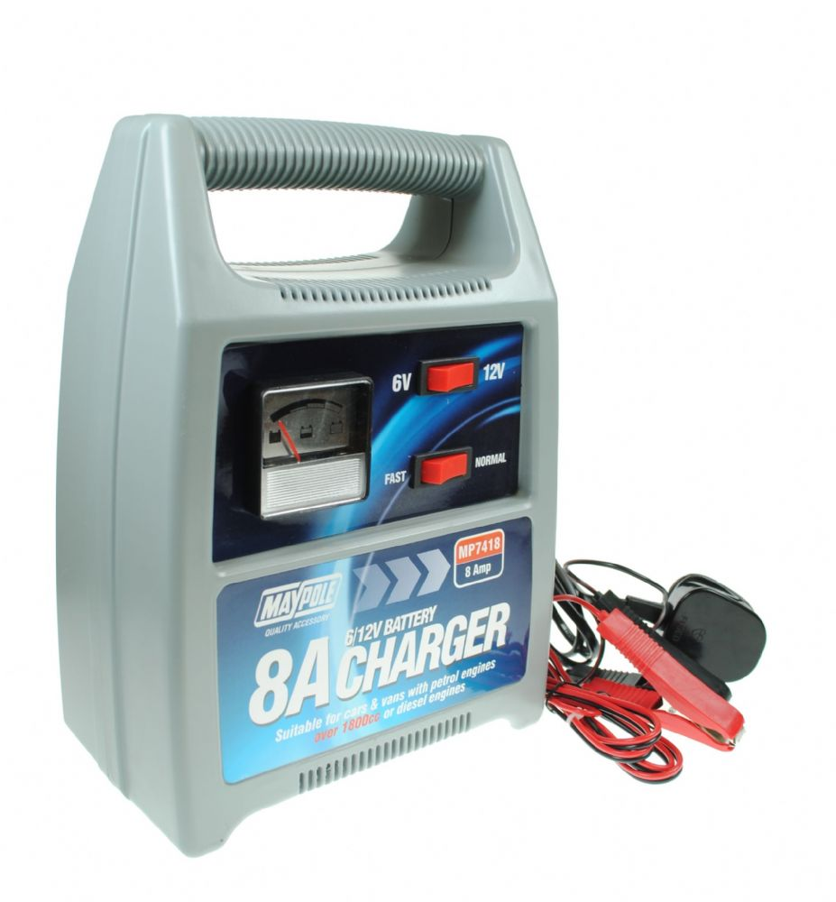 12V 8amp Car Battery Charger